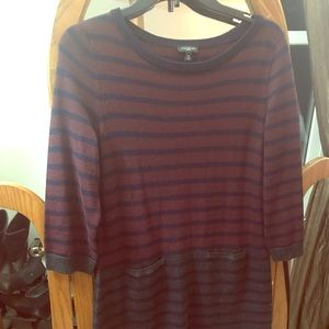 Talbots striped sweater dress